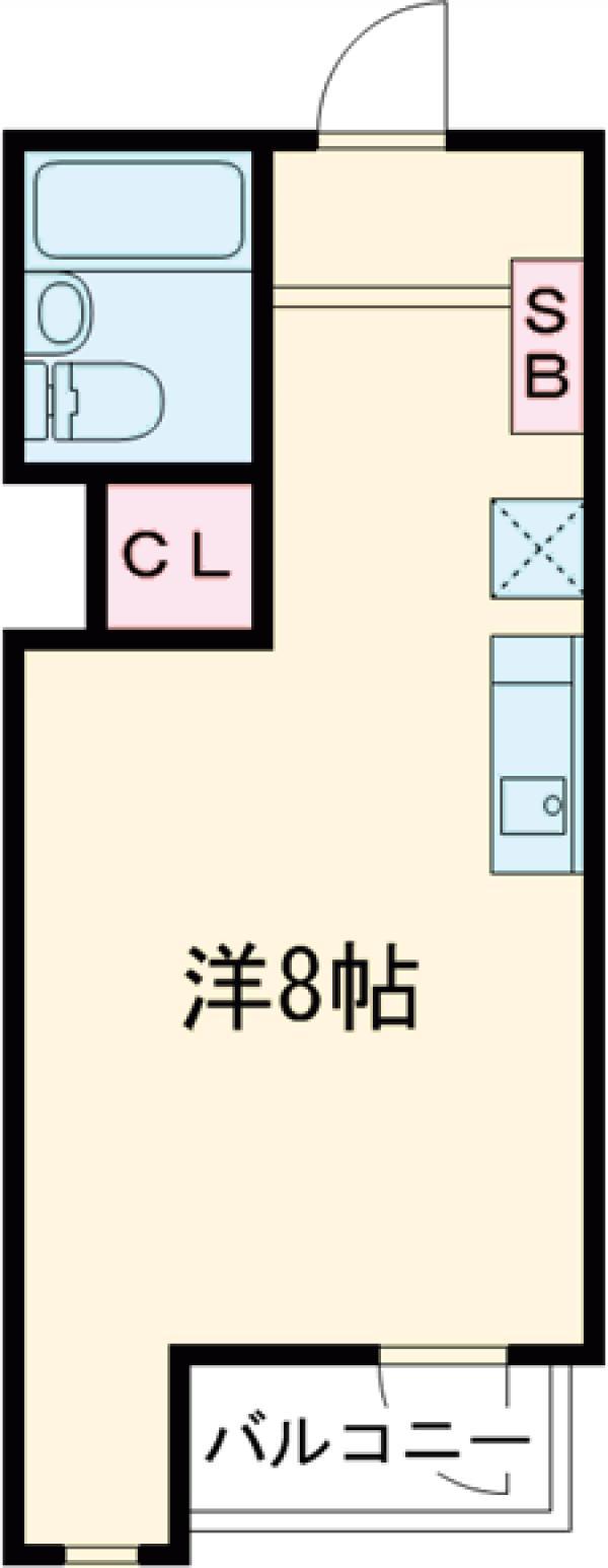 ウパーラアルトポンテ・301号室の間取り