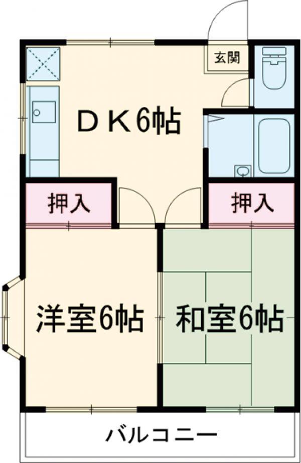 アメニティ芦田Ⅰ・103号室の間取り