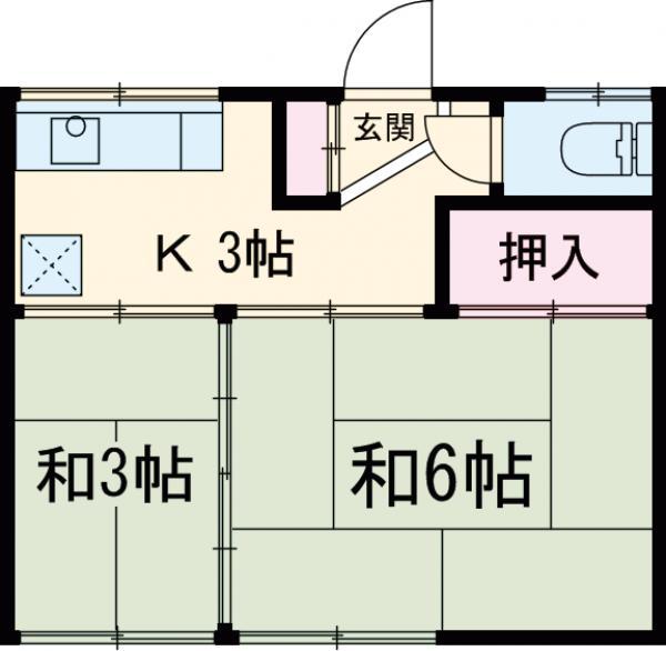 第三川端荘・202号室の間取り