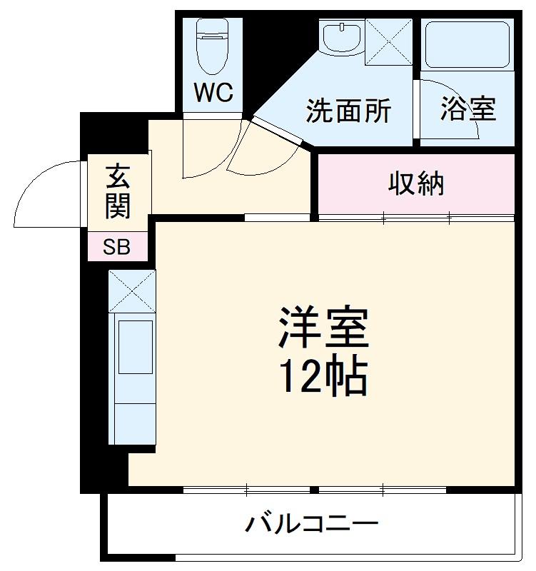 シャンボール静岡・1011号室の間取り