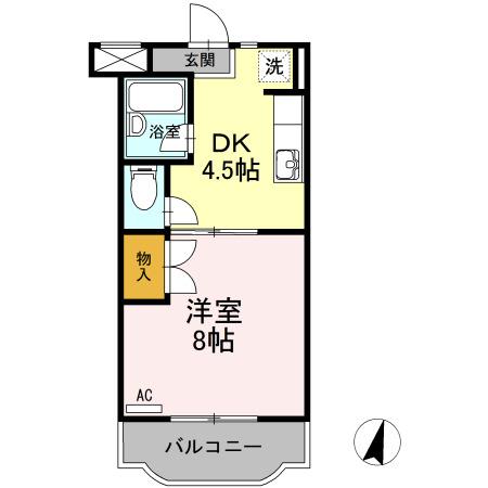 ファミーユⅢ・403号室の間取り