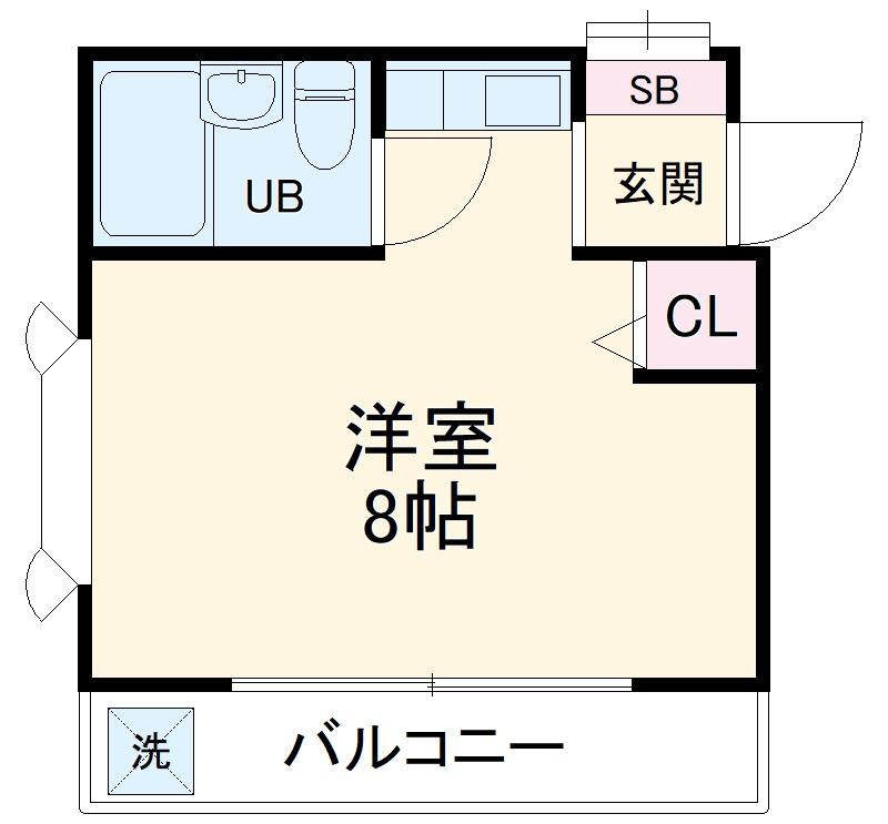 ローズアパートQ43番館・208号室の間取り