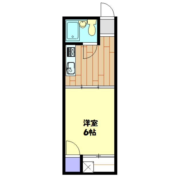 コーヨーコーポ桜が丘 205号室の間取り