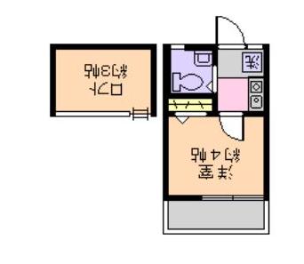 ローズアパートR21・202号室の間取り