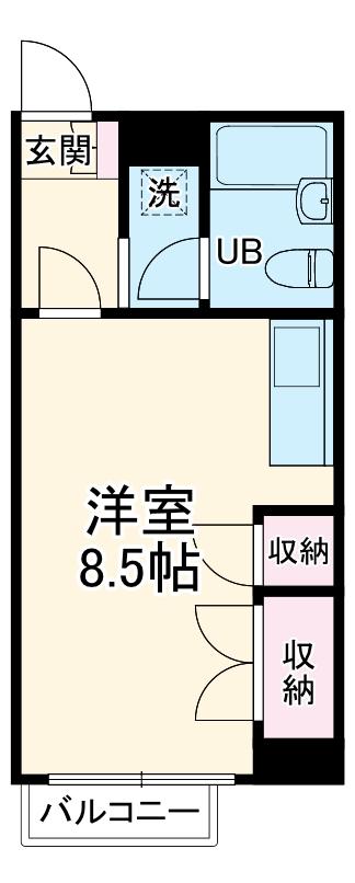 クレセントコート静岡 502号室の間取り