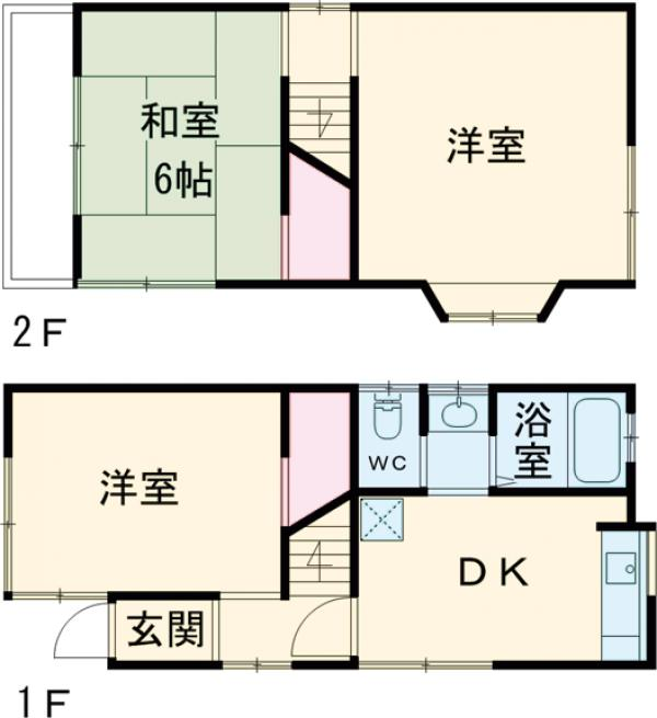 平井1丁目貸家の外観