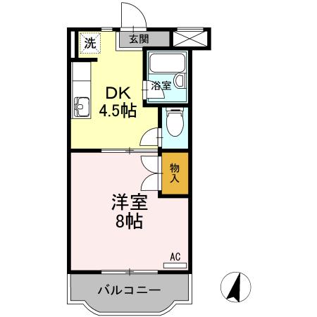 ファミーユⅢ・305号室の間取り