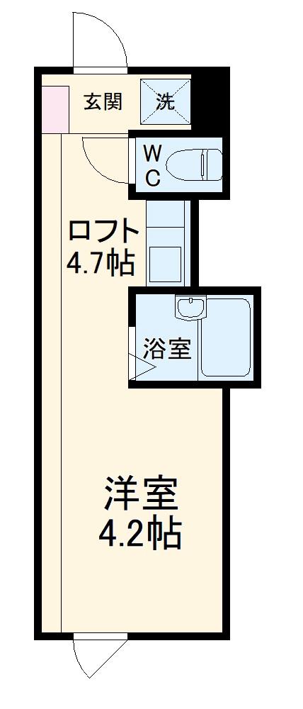 プライムテラス生田・106号室の間取り