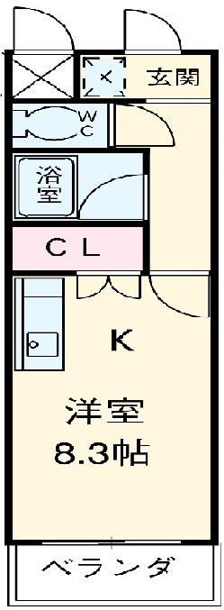 ゴールドマンション安井 418号室の間取り
