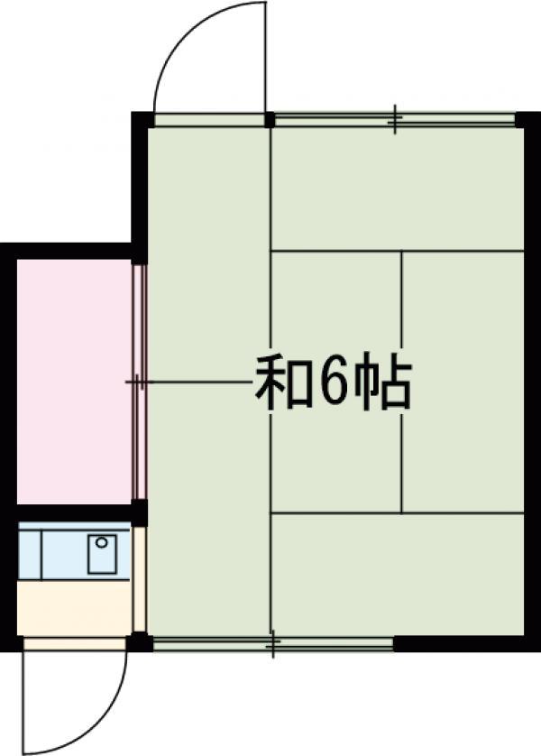奥野荘・102号室の間取り