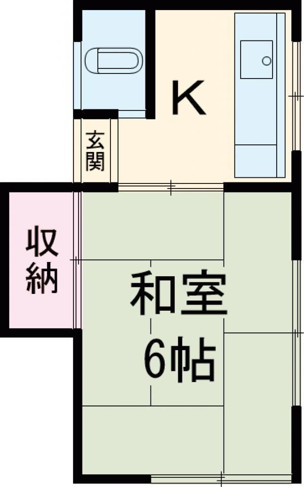 第2戸田荘 201号室の間取り