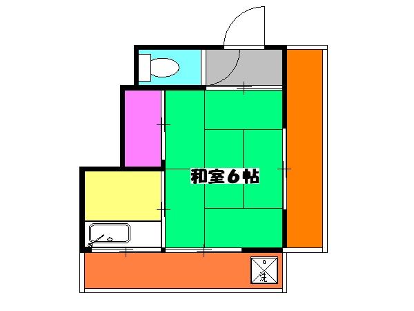 堀江ビル・3C号室の間取り