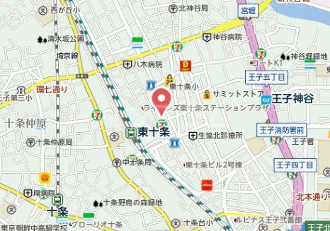 岡本荘 202号室の地図