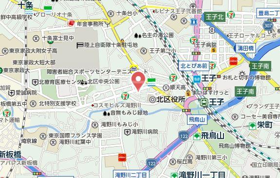 アクアステージ 302号室の地図