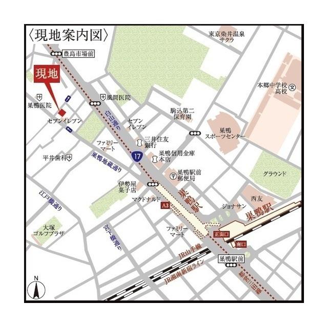 ウェルスクエアイズム巣鴨 302号室の地図