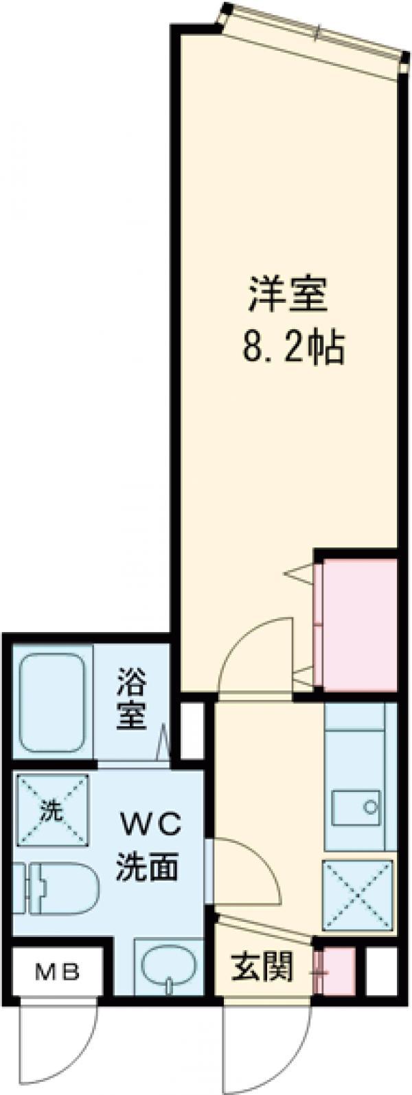 フィールコンフォート板橋仲宿・203号室の間取り