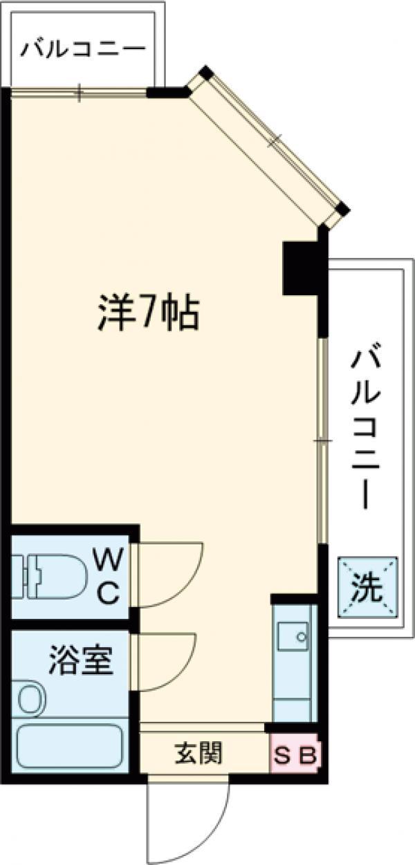 渡辺ハイツ・201号室の間取り