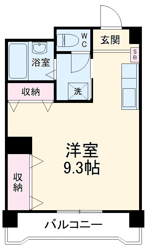 柳川ビル・302号室の間取り