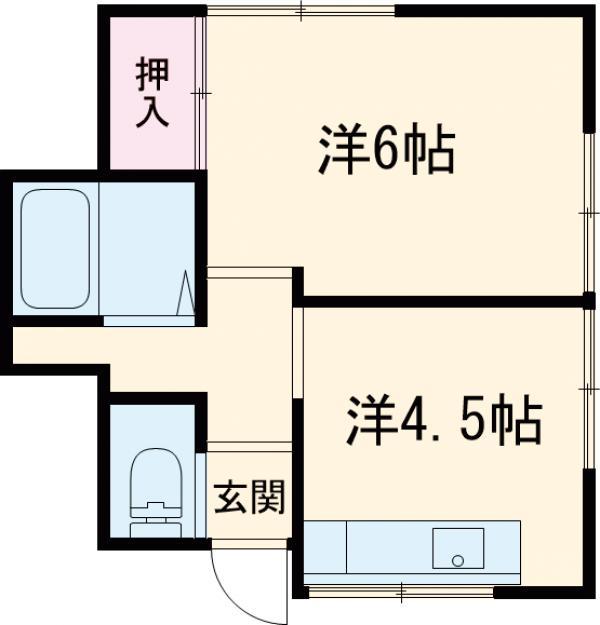 倉持荘・101号室の間取り