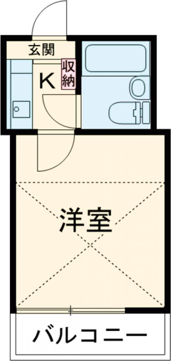セドルハイム沼袋Ⅱ 205号室の間取り