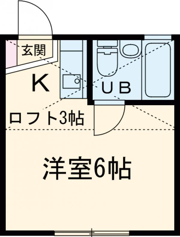 プチコートU・202号室の間取り