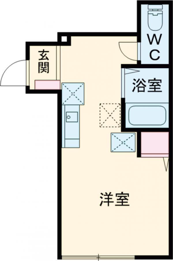 バーミープレイス吉祥寺Ⅱ・103号室の間取り