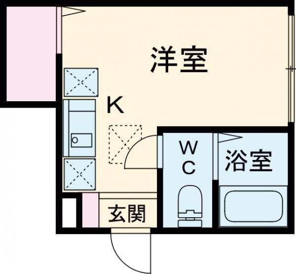 バーミープレイス吉祥寺Ⅱ・105号室の間取り