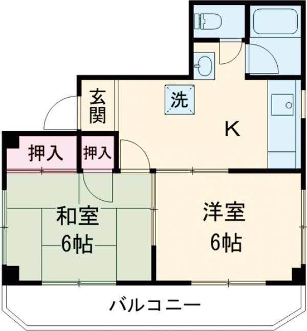 武蔵野ビル・402号室の間取り