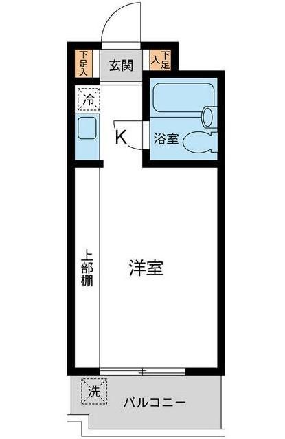 ユースフル中野坂上・0103号室の間取り