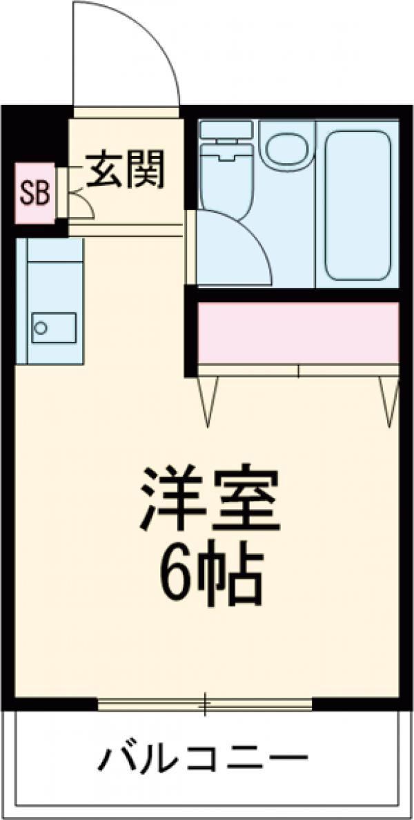 ニチエーイン武蔵野・102号室の間取り
