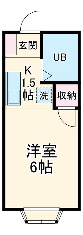 KⅢアパート・101号室の間取り
