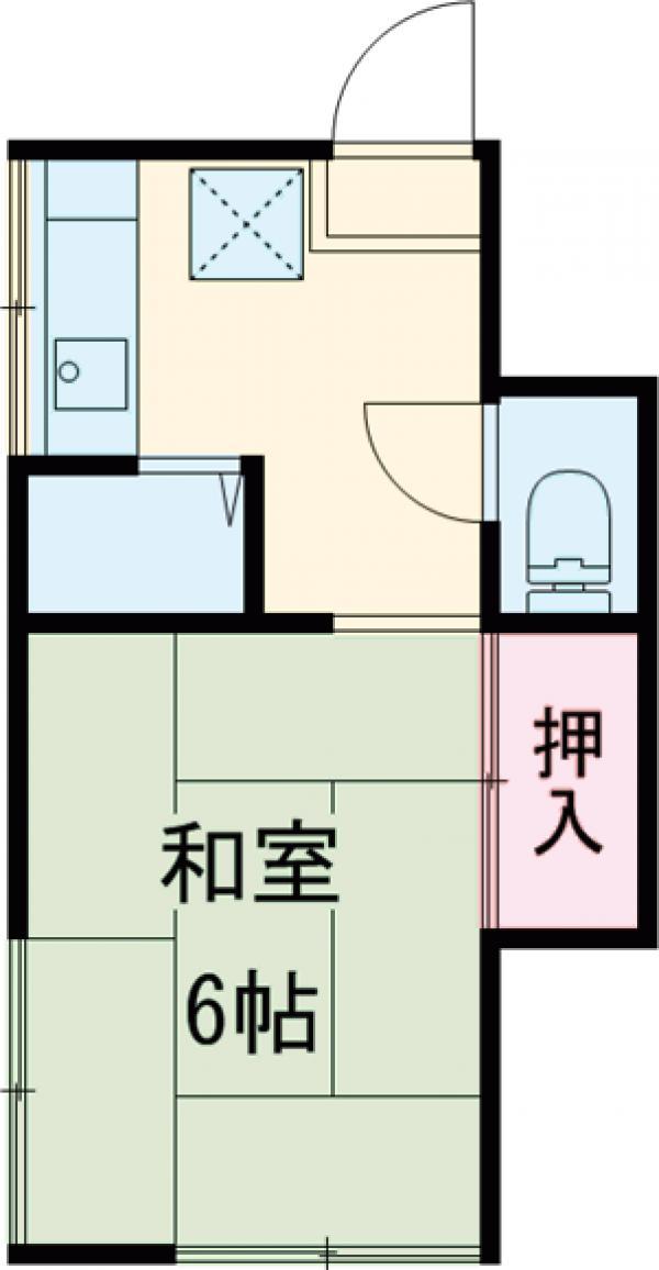 小林荘・2-1号室の間取り