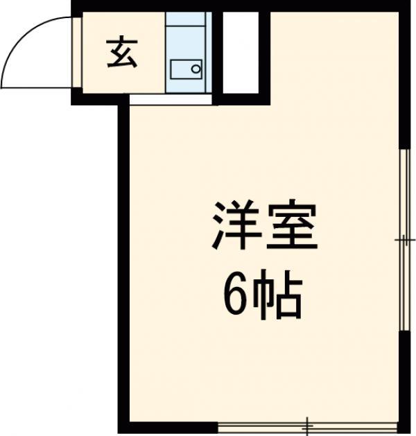 松崎アパート・102号室の間取り