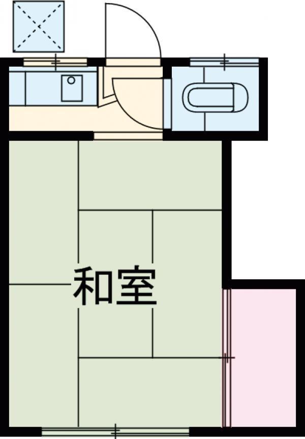 アパートメント梨花・8号室の間取り