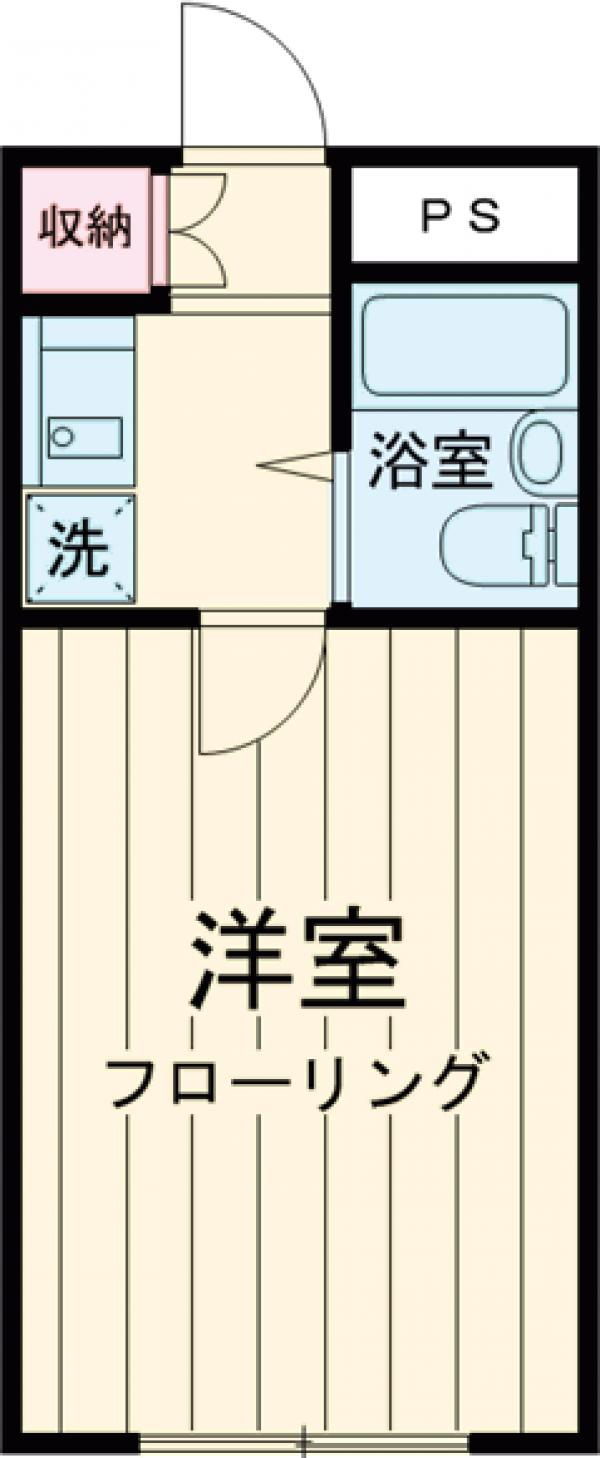 ピア武蔵野・105号室の間取り