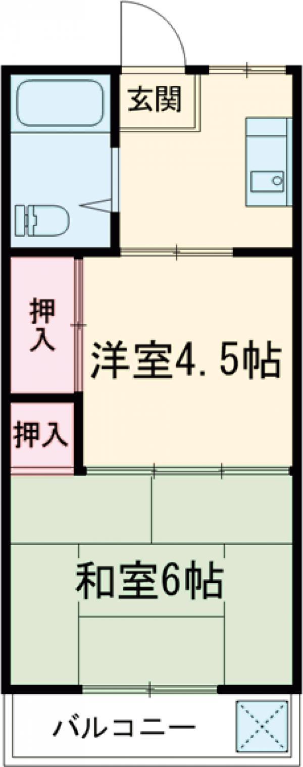 豊川マンション・304号室の間取り