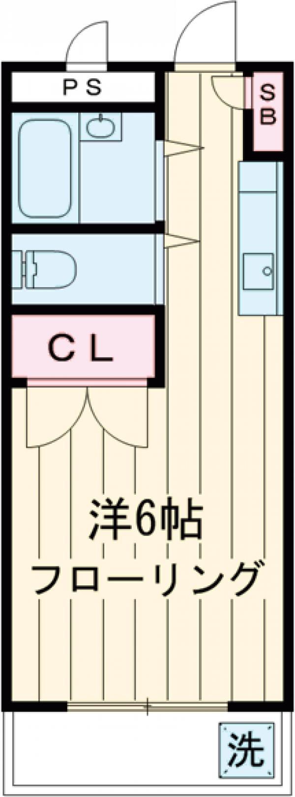 YKマンション・302号室の間取り