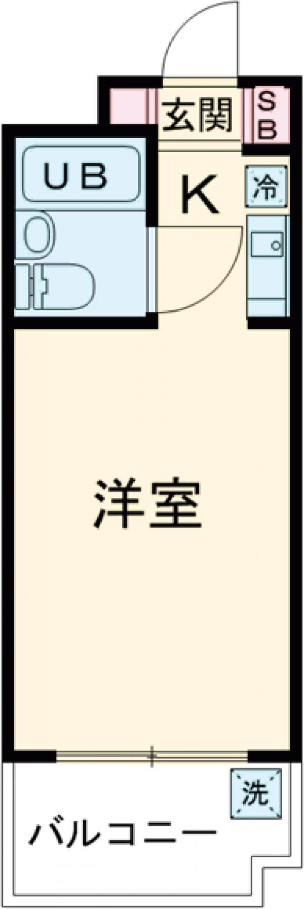 ユースフル中野坂上・0102号室の間取り