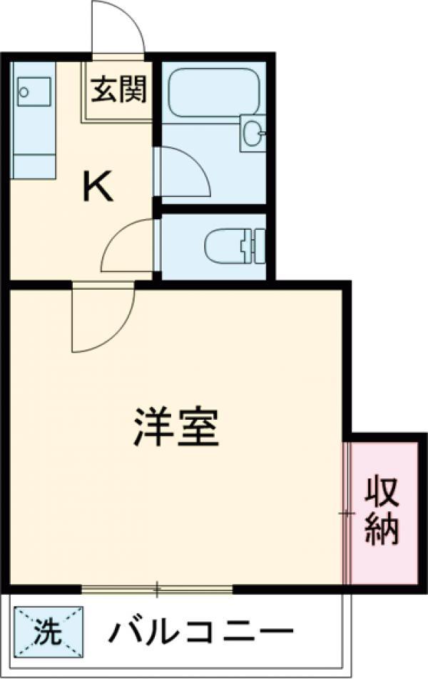 レジデンス山崎Ⅱ 205号室の間取り