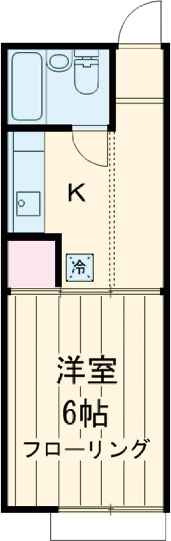 パレーシャル武蔵野・B203号室の間取り