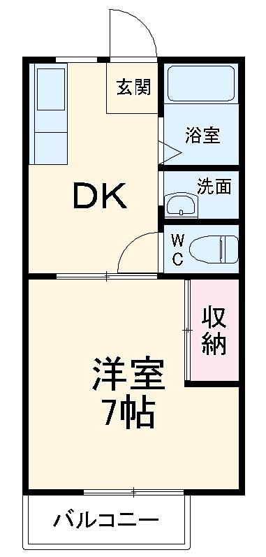 サムハイツA・102号室の間取り