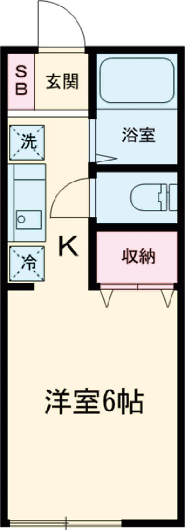 トーシンコーポ上井草・103号室の間取り