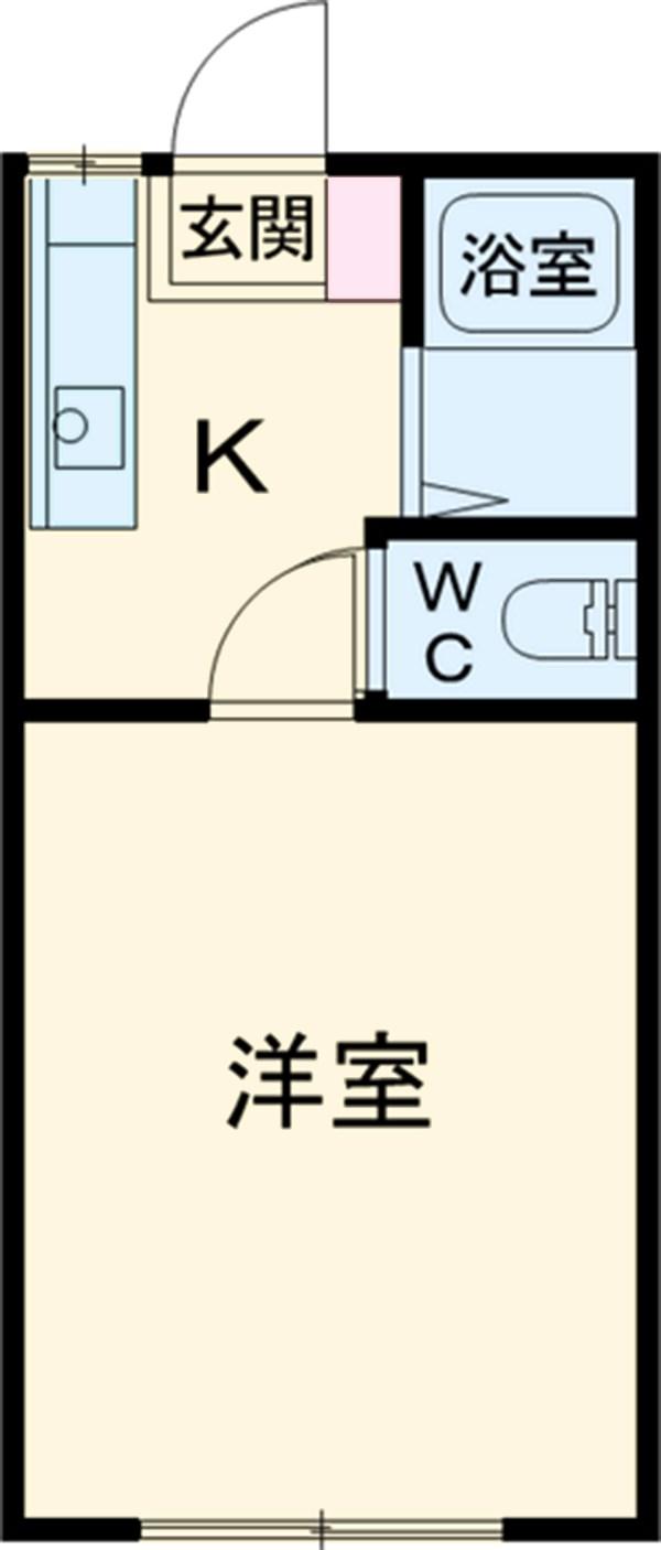 吉沢ハイツB棟 101号室の間取り