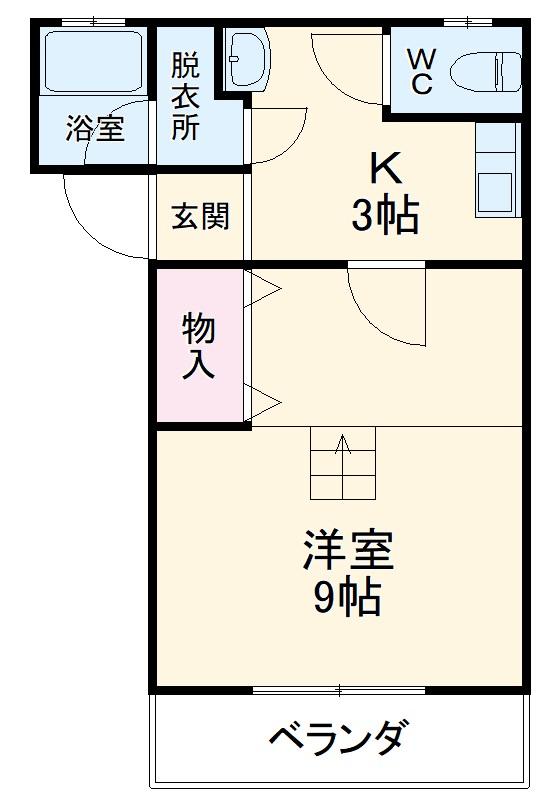 ハイツF2 103号室間取り図