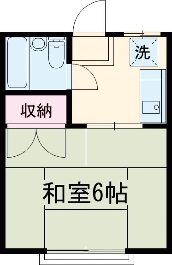 エスポワール高井戸 102号室の間取り