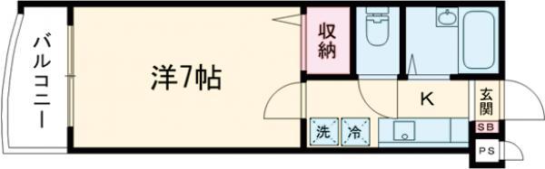 ラ・フローラ武蔵野Ⅴ 313号室の間取り