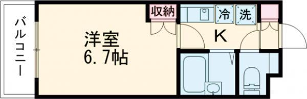 ザ・ハウス中野坂上・0104号室の間取り