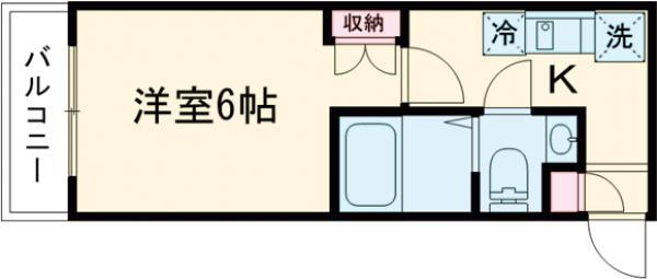 ザ・ハウス中野坂上・0301号室の間取り