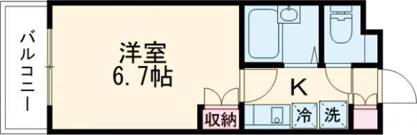 ザ・ハウス中野坂上・0210号室の間取り