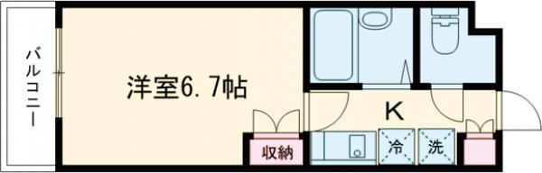ザ・ハウス中野坂上・0404号室の間取り